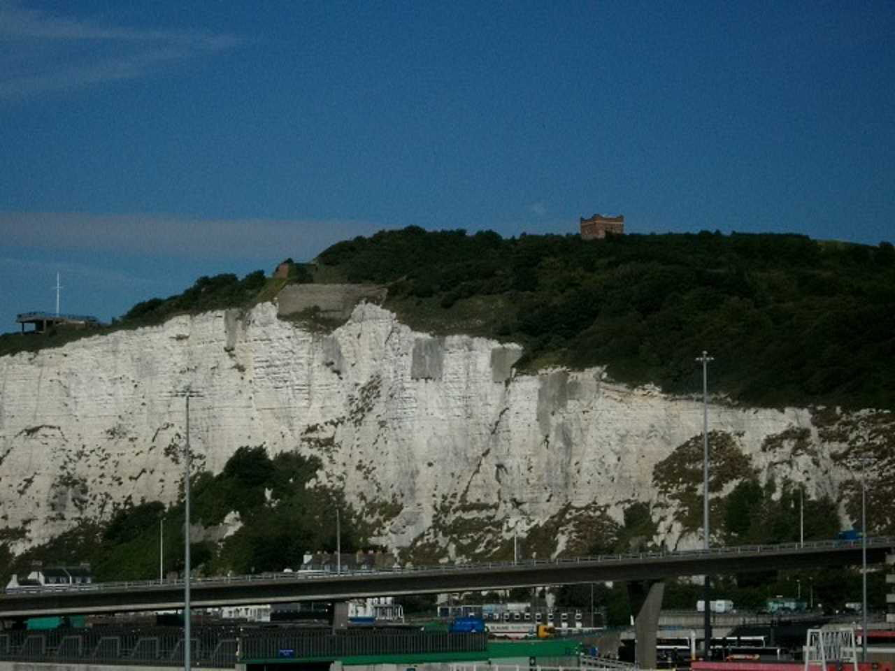 Dover castle from ferry