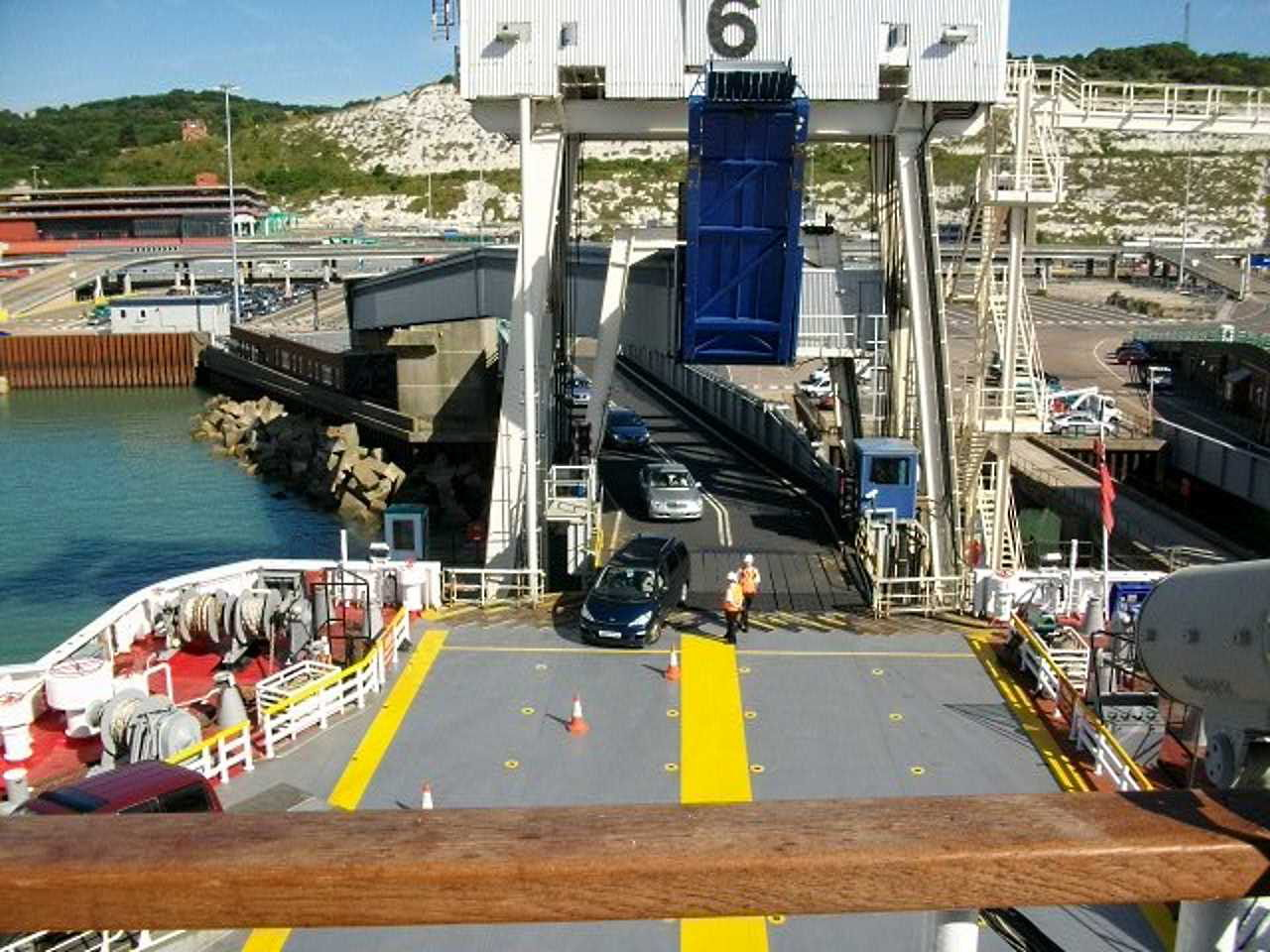 Ferry loading, Dover