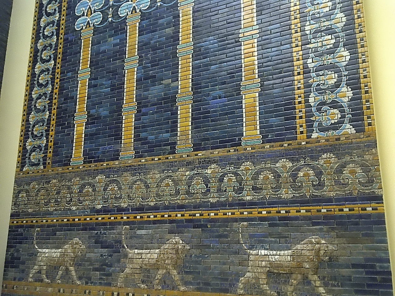 Ishtar Gate, lions and palm trees