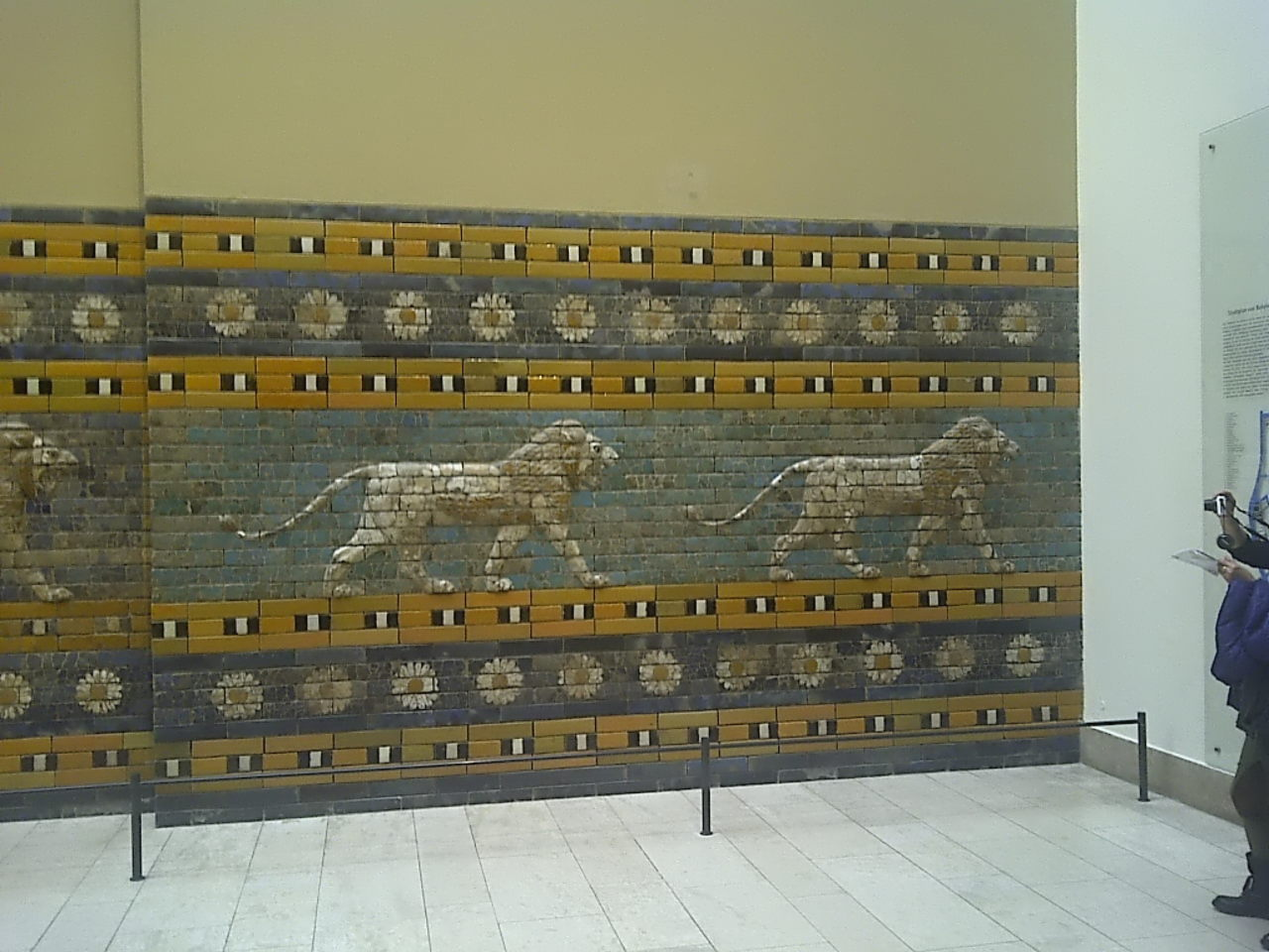 Ishtar Gate, procession street lions