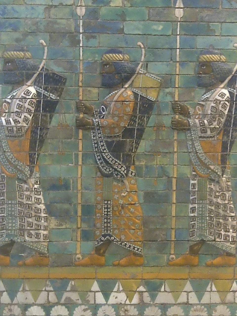 Pergamon Museum, Eternal Soldiers, closeup