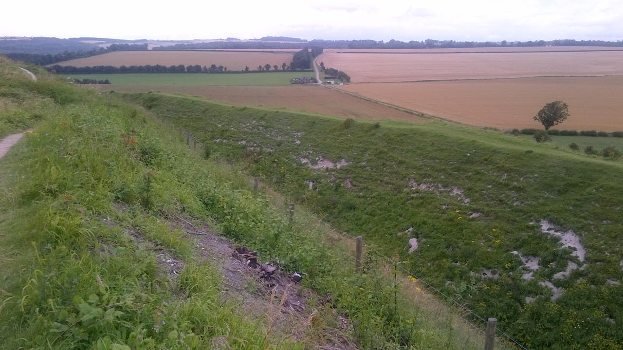 Old Sarum, ditch and landscape
