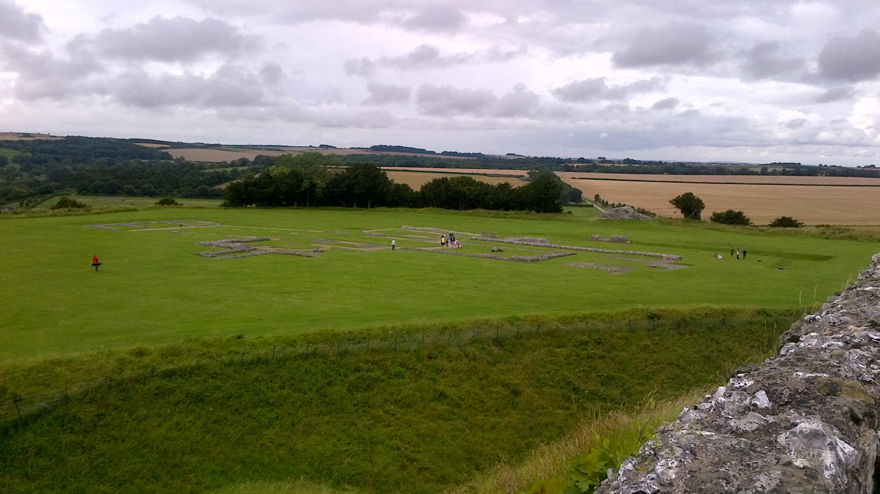Old Sarum, In the Basements, outside