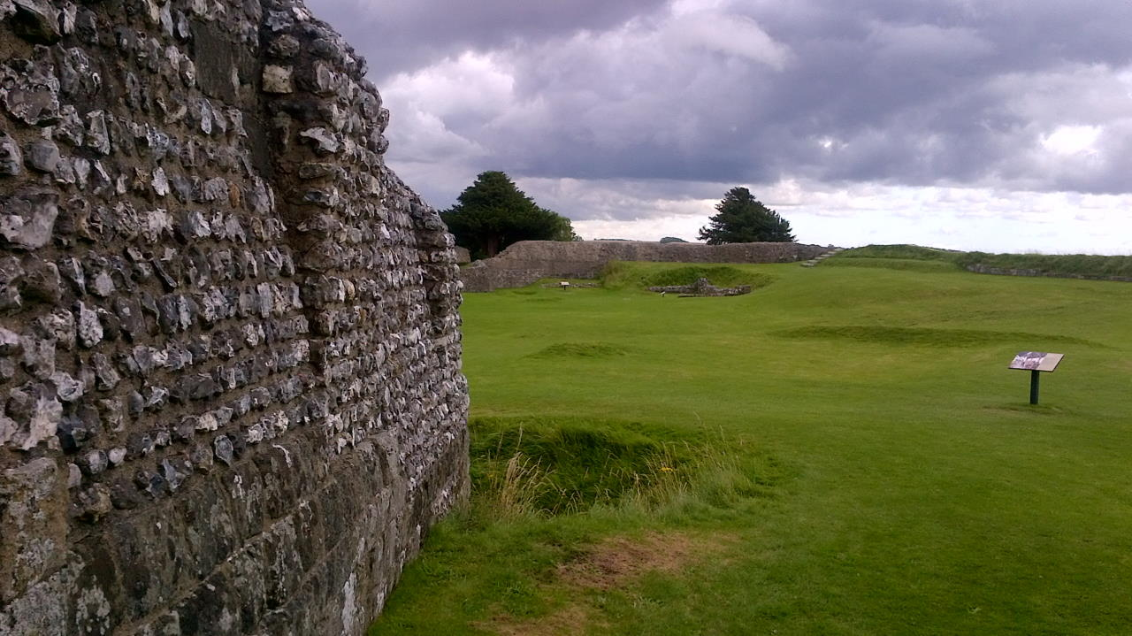 Old Sarum, In the Basements, outside wall view