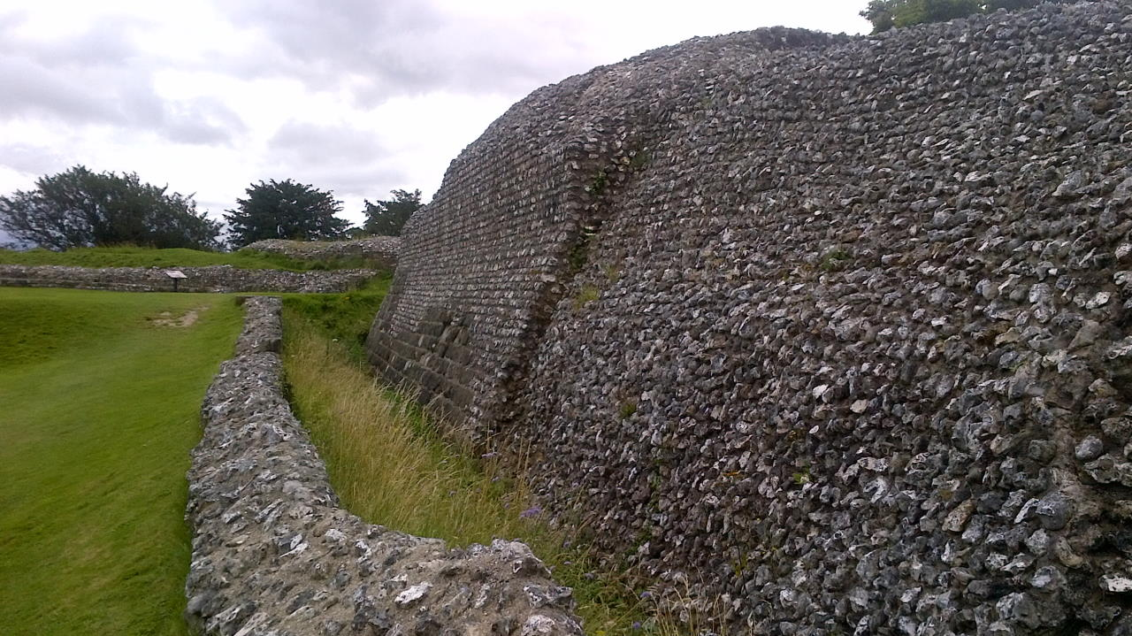 Old Sarum, In the Basements, outside wall