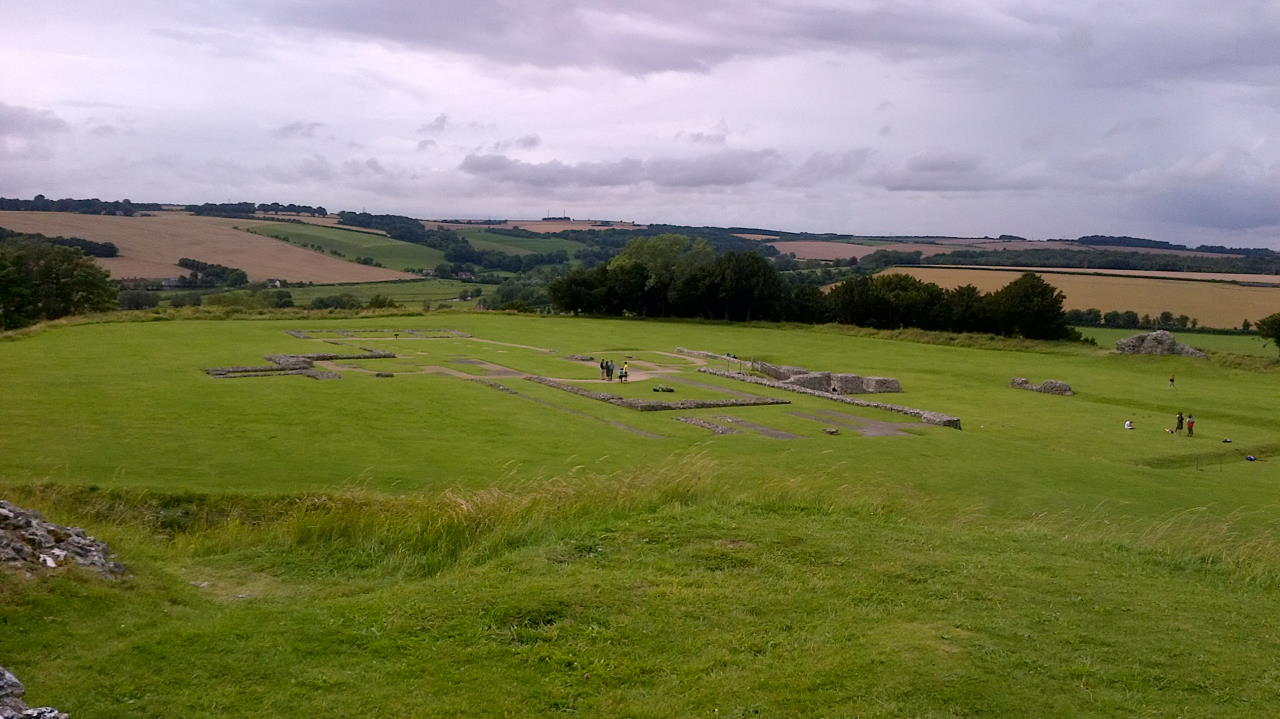 Old Sarum, The Cathedrals of Old Sarum, outside