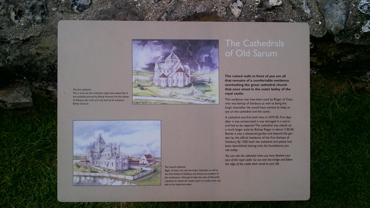 Old Sarum, The Cathedrals of Old Sarum