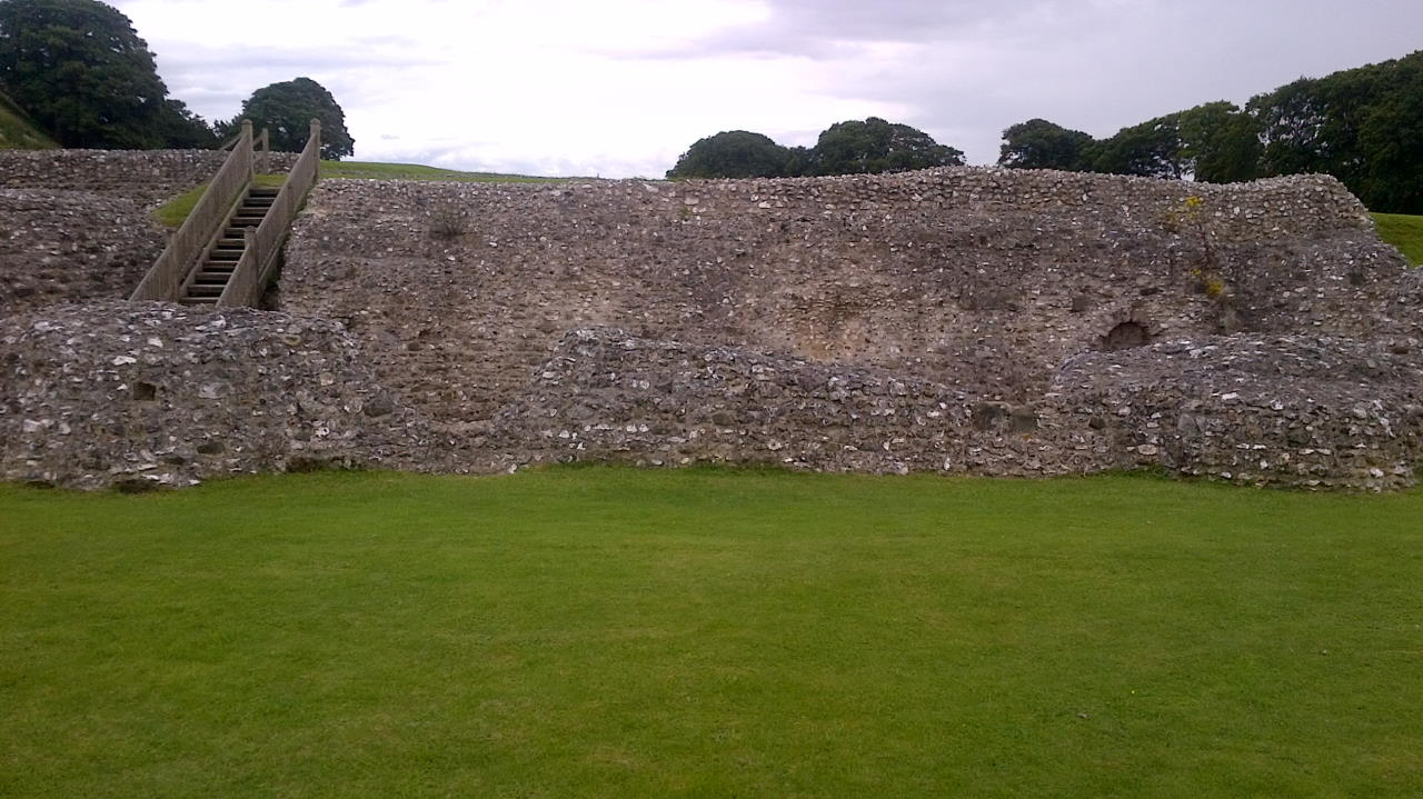 Old Sarum, The hidden Cathedral, wall and stairs