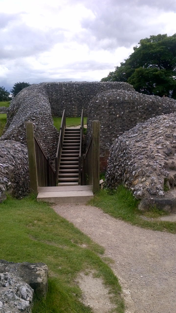 Old Sarum, The Kings's Great Tower, stairs