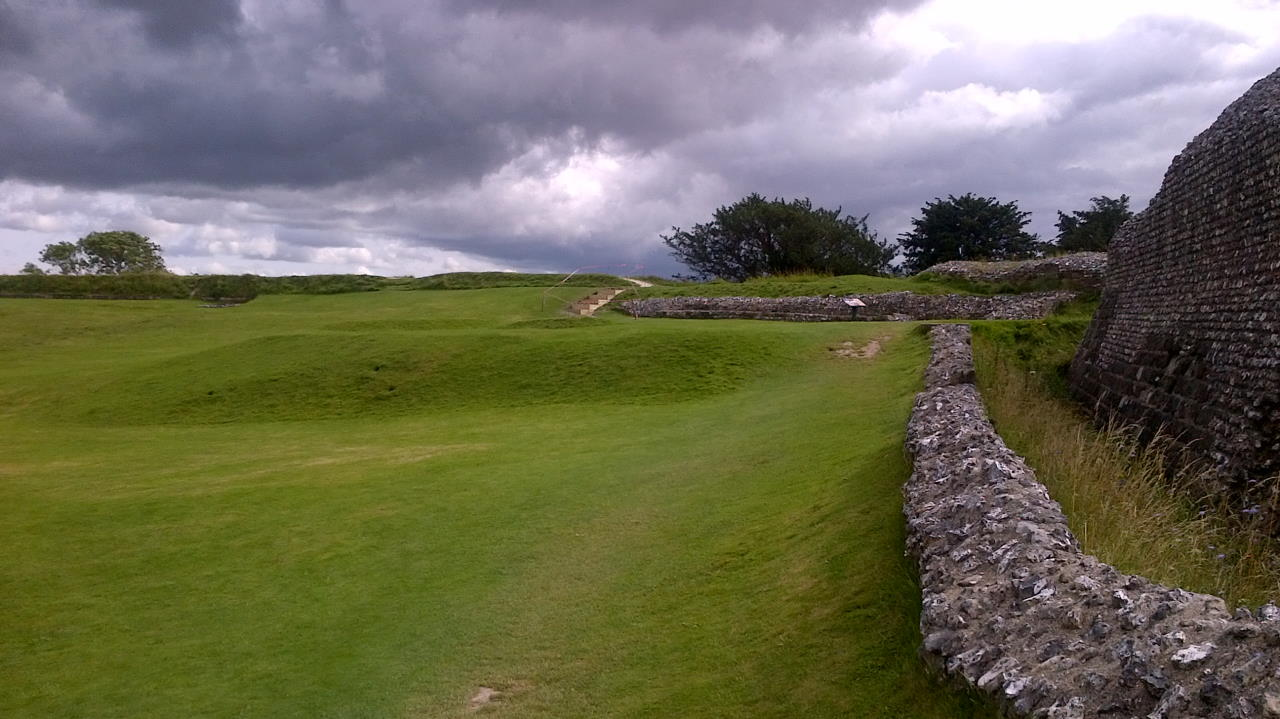 Old Sarum, The privileged few, wall outside