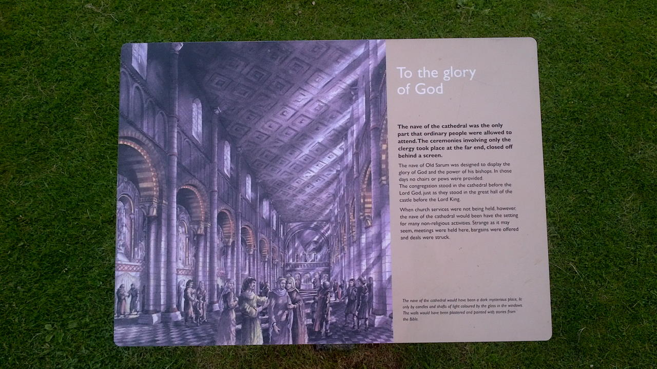 Old Sarum, To the glory of God