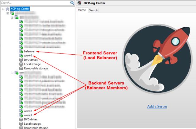 Virtual setup for Apache Proxy Load Balancer concept
