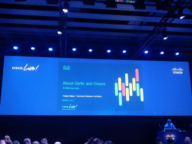 Cisco Live 2020, About Garlic and Onions