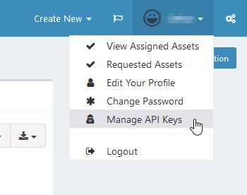 Snipe-IT: Generate API Token