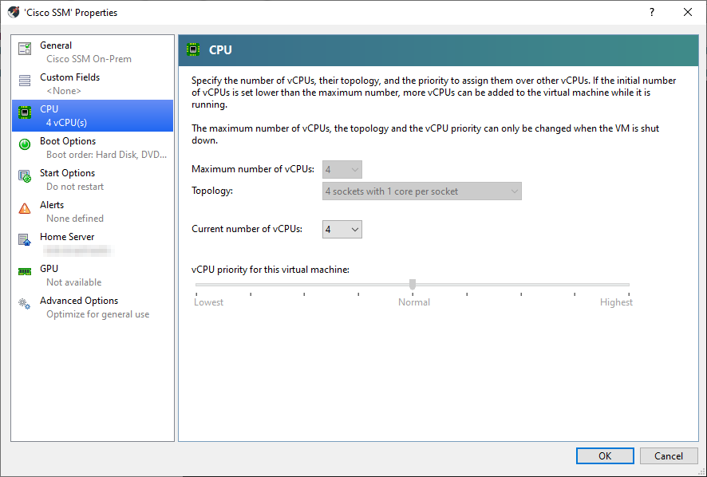 Cisco SSM On-Prem Virtual machine