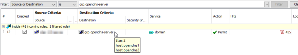 ASA Firewall: ACL for OpenDNS