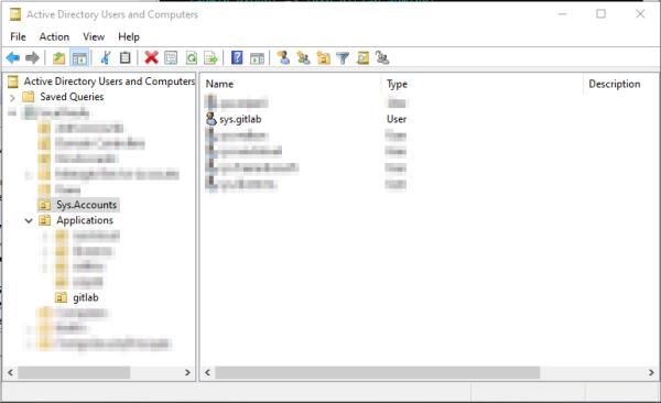 GitLab Active Directory LDAP Bind Account