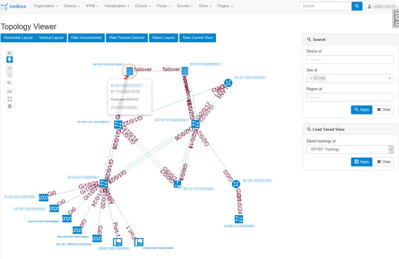 Netbox: Nextbox UI Topology view